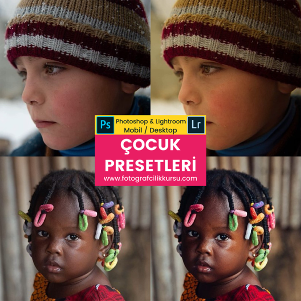 çocuk children photoshop ve lightroom presetleri presets